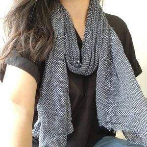 GAP Blue With White Scarf